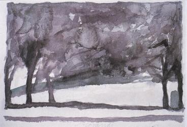 Giorgio Morandi, watercolor, 1957.