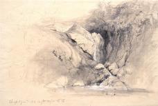 Pierre Thuillier, graphite w/white chalk, 29.7 x 44.2 cm., 1837.