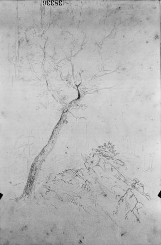 Thomas Cole, pencil sketches, 11 1/4 x 17 (each page) in. 19th C.