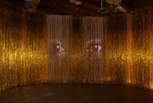 She seas dance, 2012, Iridescent, white and gold PVC, Louver styrene, 3 channel projections, 177, Photo credit- Robert Wedemeyer