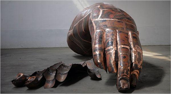 Zhang Huan, Fresh Open Buddha Hand (2007).